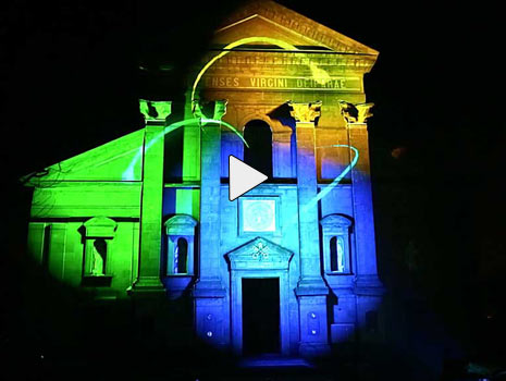videomapping church