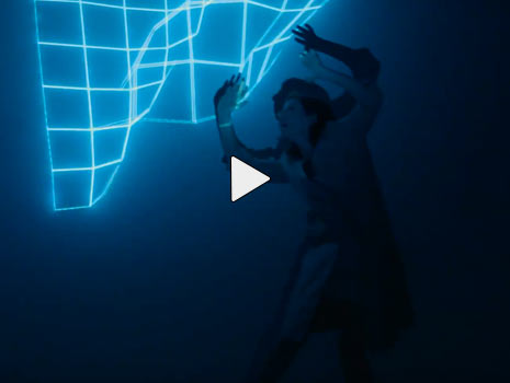 dancer 3D projection mapping